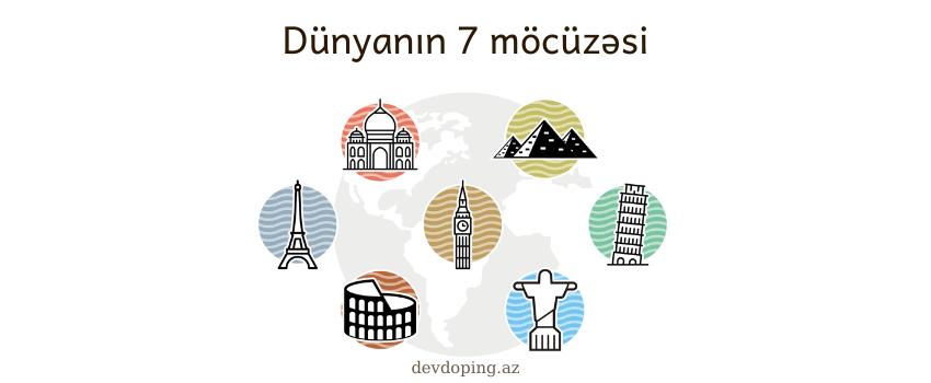 Dunyanin 7 mocuzesi haqqinda