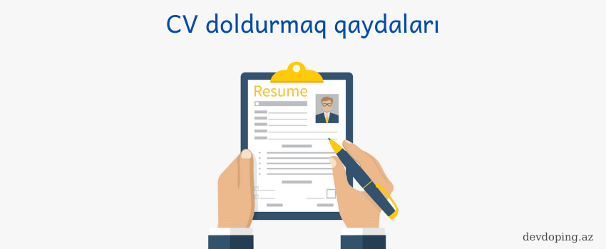 Photo of CV doldurmaq Qaydaları