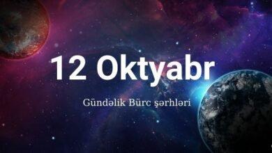 Photo of 12 Oktyabr 2020 – Gündəlik Bürclər (12.10.2020) ✅