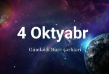 Photo of 04.10.2020 Gündəlik Bürclər (4 Oktyabr 2020)