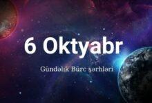 Photo of 6 Oktyabr 2020 – Gündəlik Bürclər (06.10.2020)