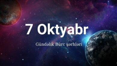 Photo of 7 Oktyabr 2020 – Gündəlik Bürclər (07.10.2020)