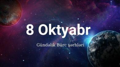 Photo of 8 Oktyabr 2020 – Gündəlik Bürclər (08.10.2020)