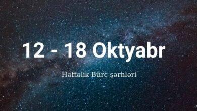 Photo of 12 – 18 Oktyabr 2020 – Həftəlik Bürclər (Qoroskop) ✅
