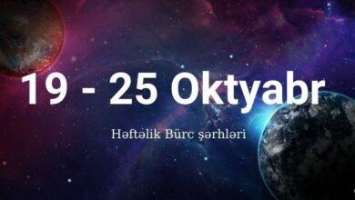 Photo of 19 – 25 Oktyabr 2020 – Həftəlik Bürclər (Qoroskop) ✅