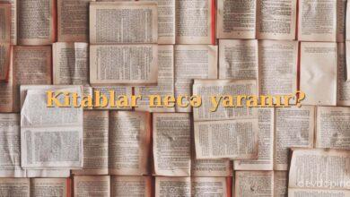 Photo of Kitablar necə yaranir?  sualının cavabı ✅
