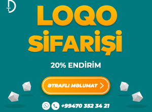 Photo of Logolarin Hazirlanmasi Hər Zaman 20% Endirim İlə